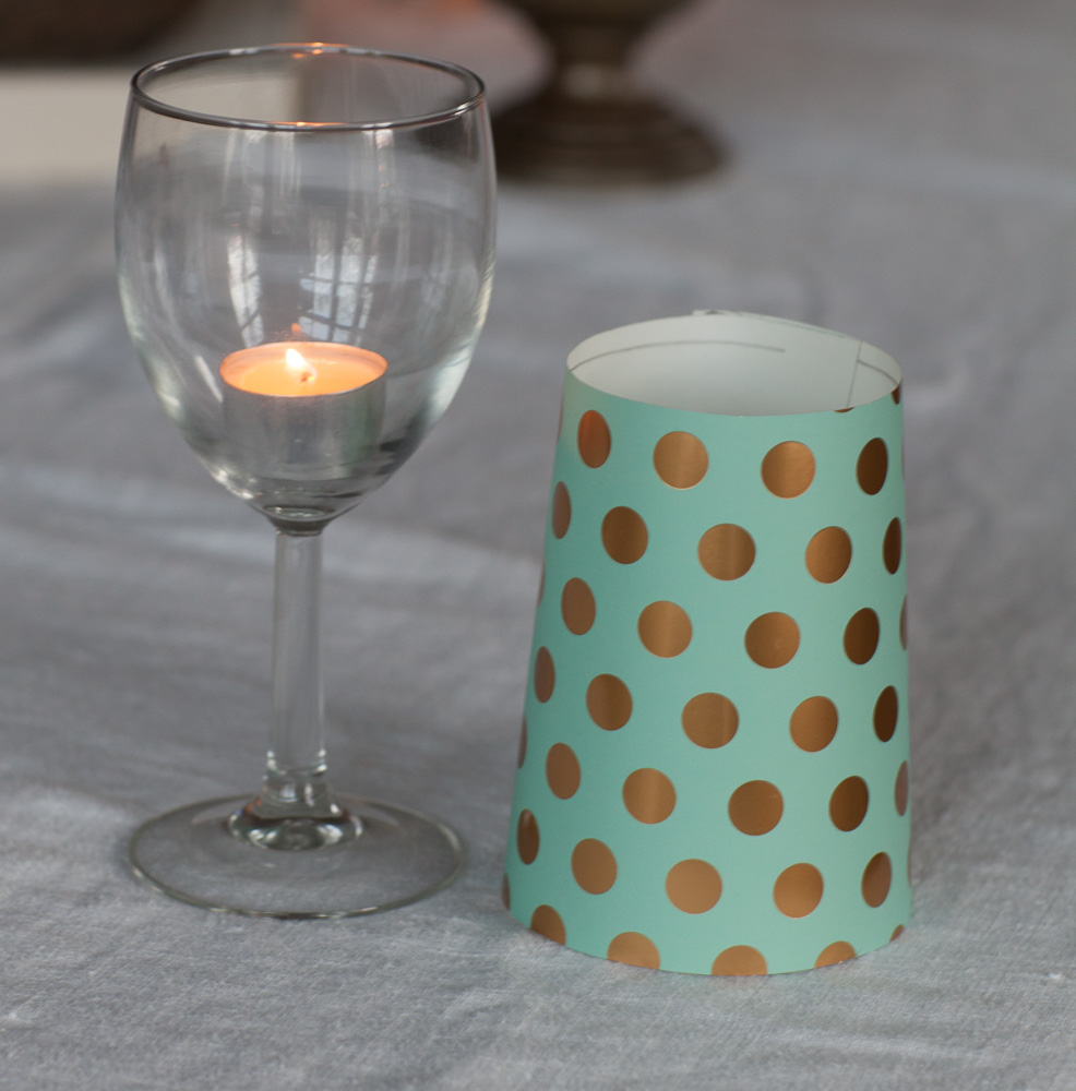 DIY Table Lamp Candles