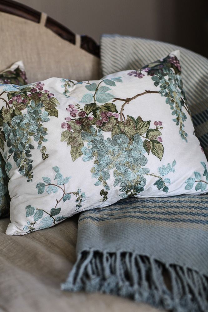 this pillow is perfect for spring but you could use it all year round too i have links to all of the products shown at the end of the post
