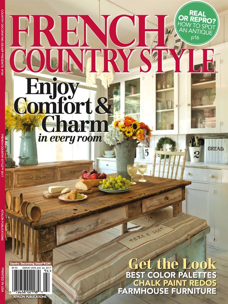 French Country Style Magazine Feature Cedar Hill Farmhouse - French country magazine