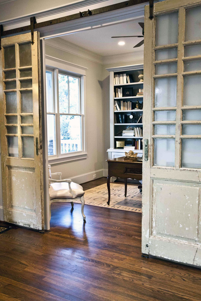 make a statement in your home with hanging doors