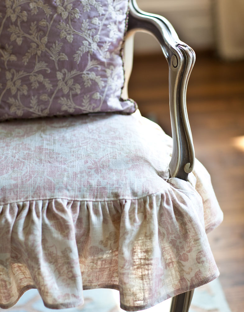 pink slipcovers for chairs