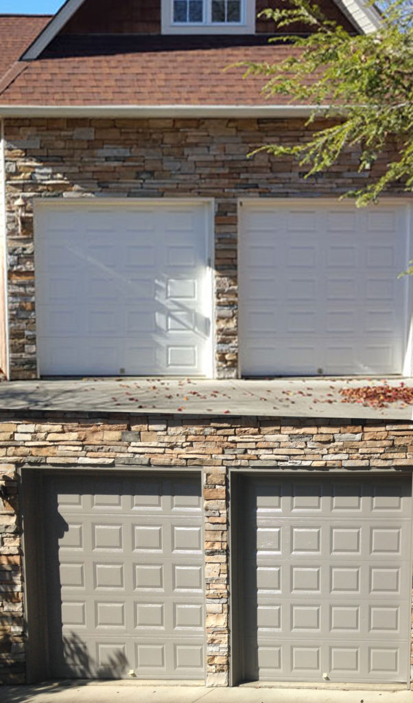 gray exterior paint garage doors