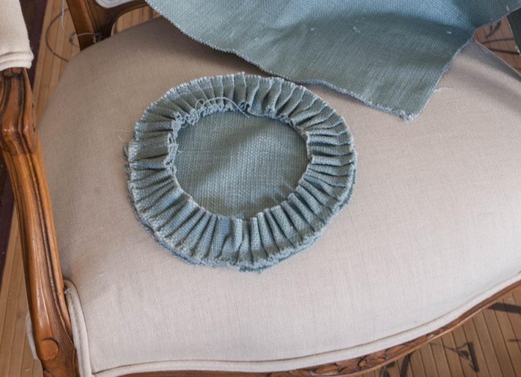 linen bolster pillow ruffle