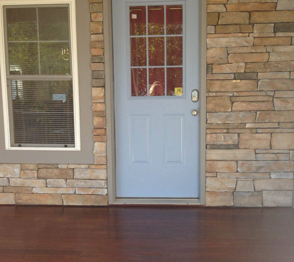 gray exterior paint front door