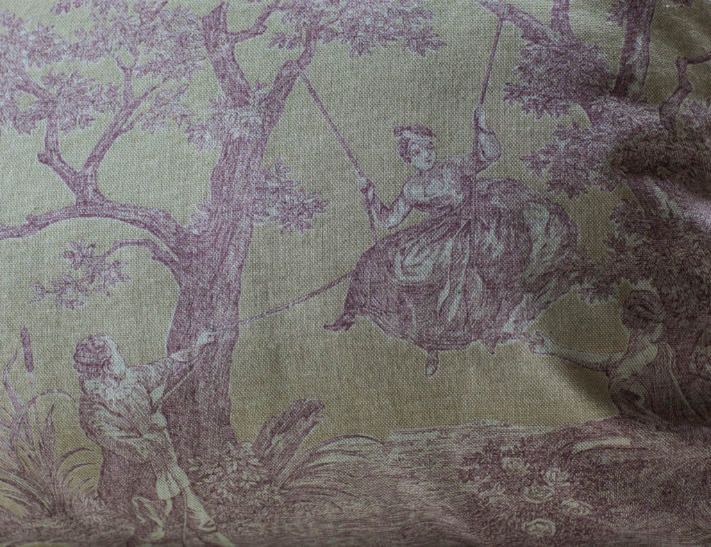 toile pillow
