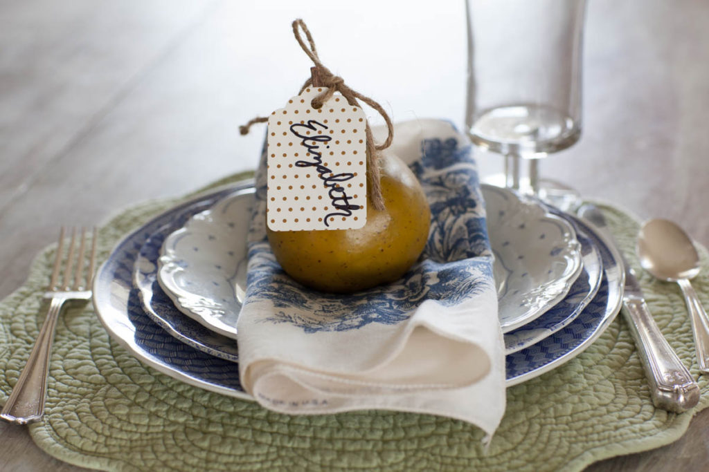 fall place cards pear