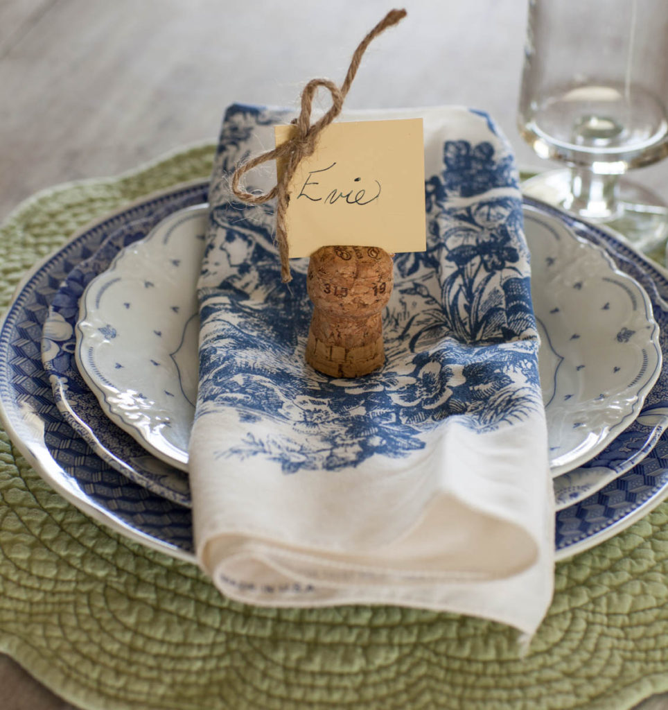 fall place cards cork