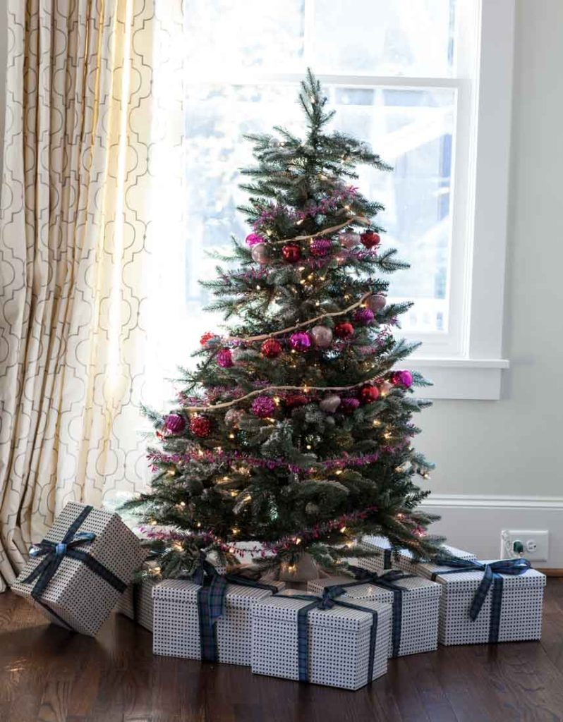 Country French Christmas fir tree