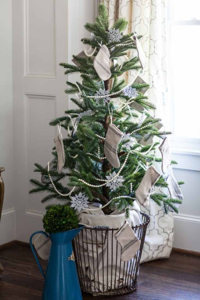 Country French Christmas norfolk pine