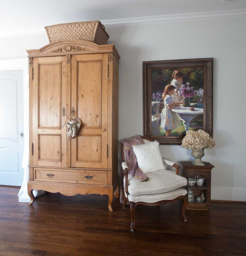 Country French Christmas armoire