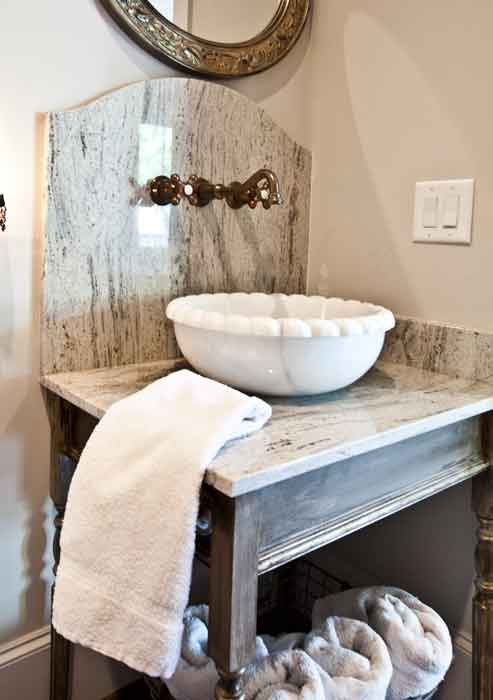 make a statement in your home powder room