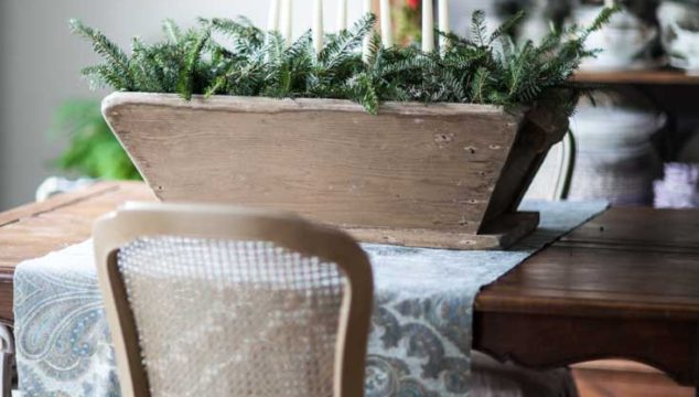 Christmas Décor with Candles and Greenery