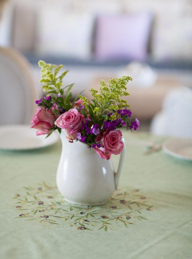 French tablecloths with flowers