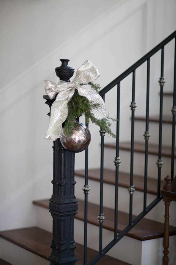 French Christmas tree newel post