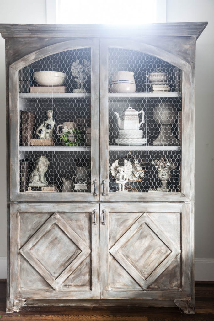 decorate a hutch gray