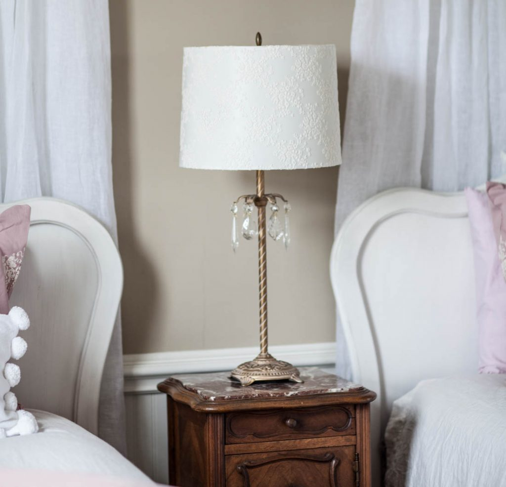 French Girls Room lamp shade