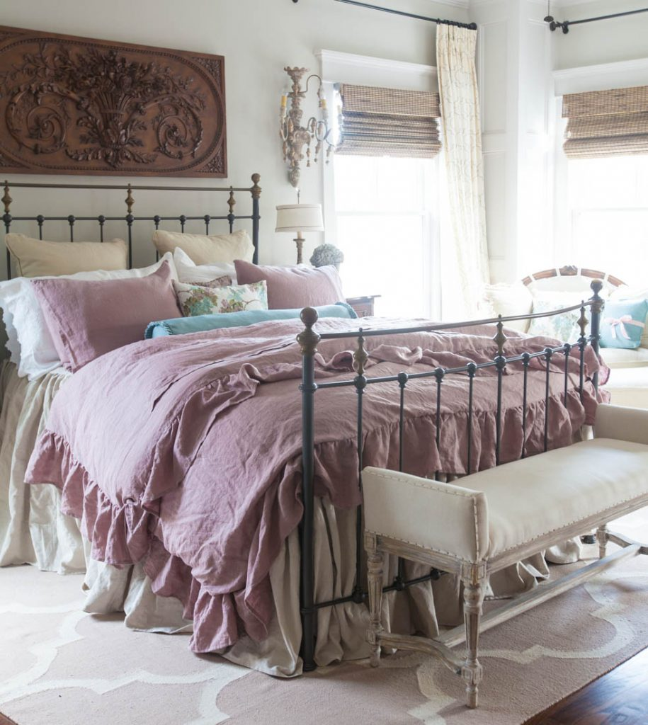 linen ruffled duvet cover
