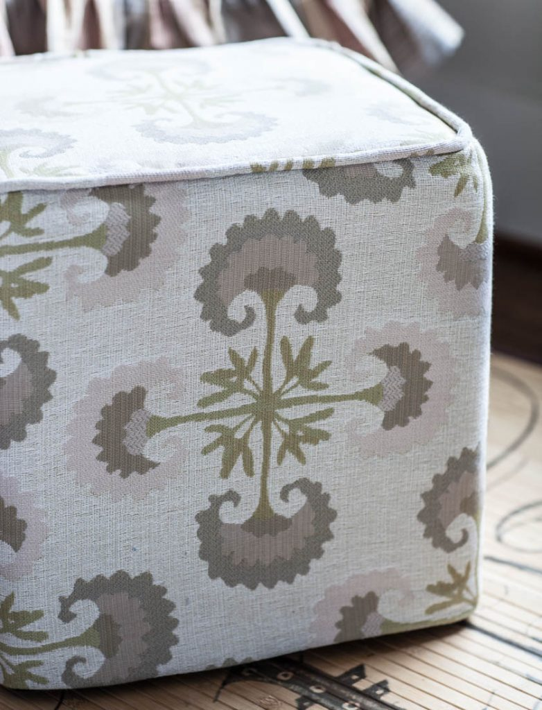 guest room ottoman slipcover
