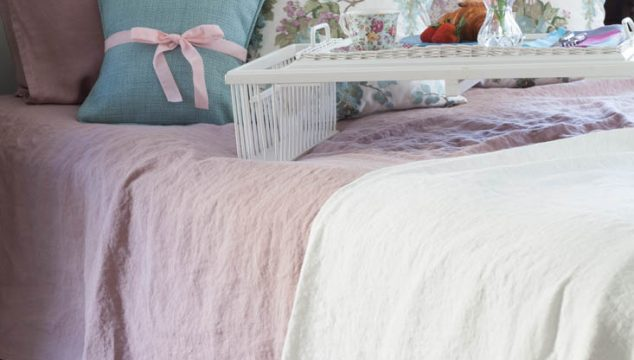Rose Linen Sheets
