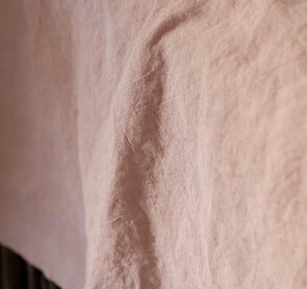 rose linen sheets texture