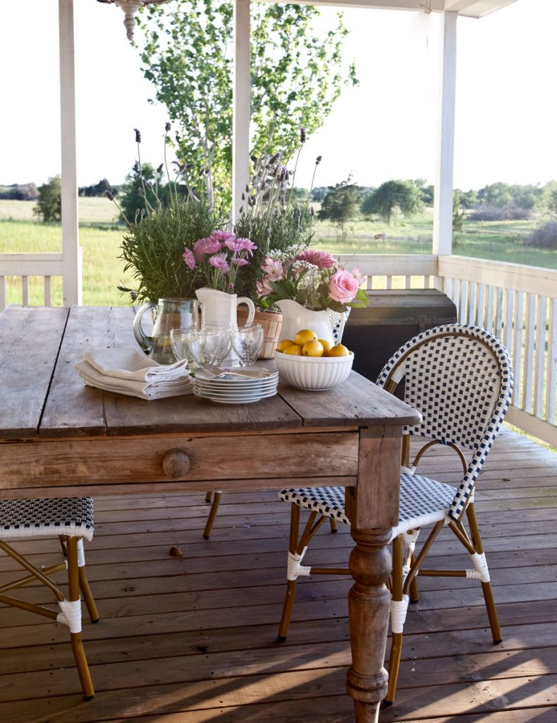 Porch refresh for summer pasture view