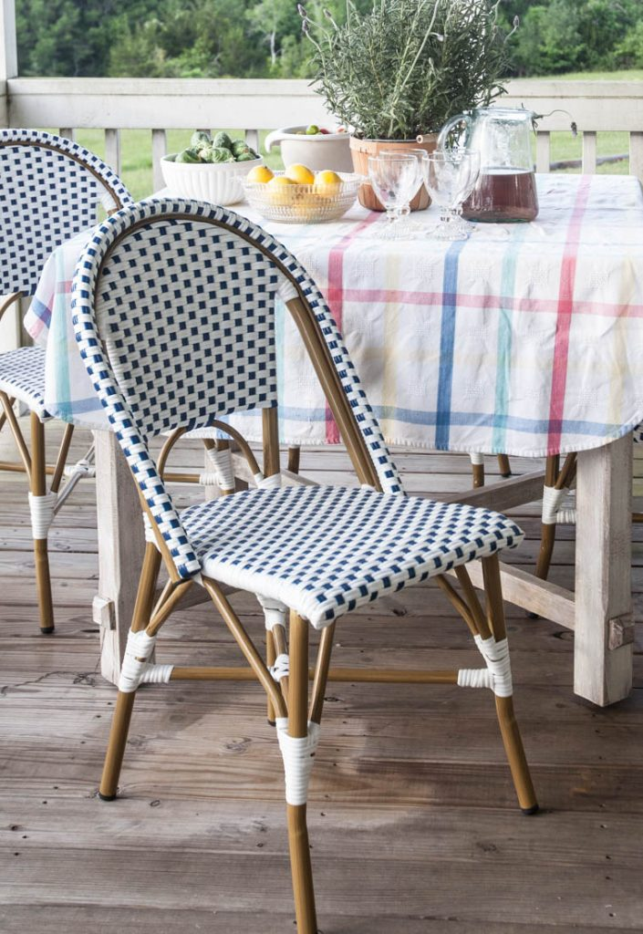 Porch refresh for summer chairs