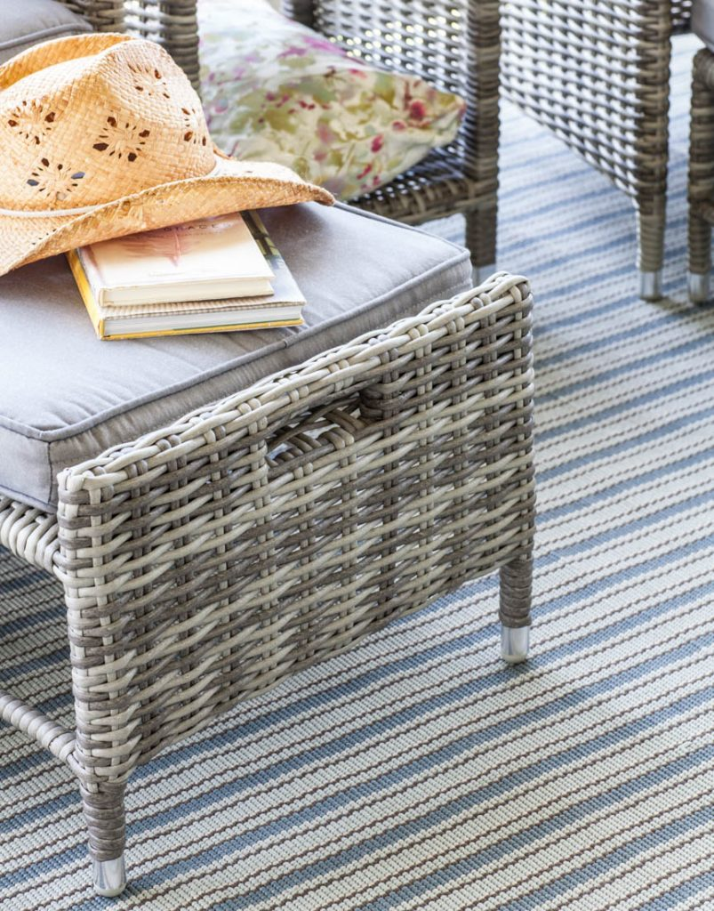 Porch refresh for summer ottoman