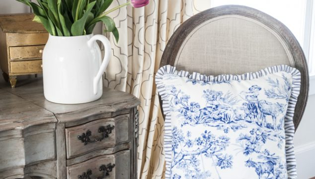 Using Toile Fabric in Country French Decor