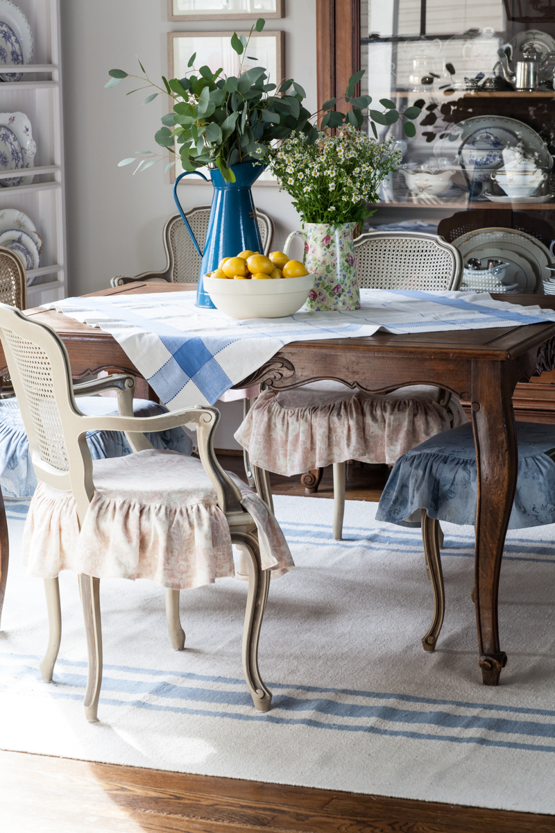 french table on cedar hill farmhouse designed dash and albert rug